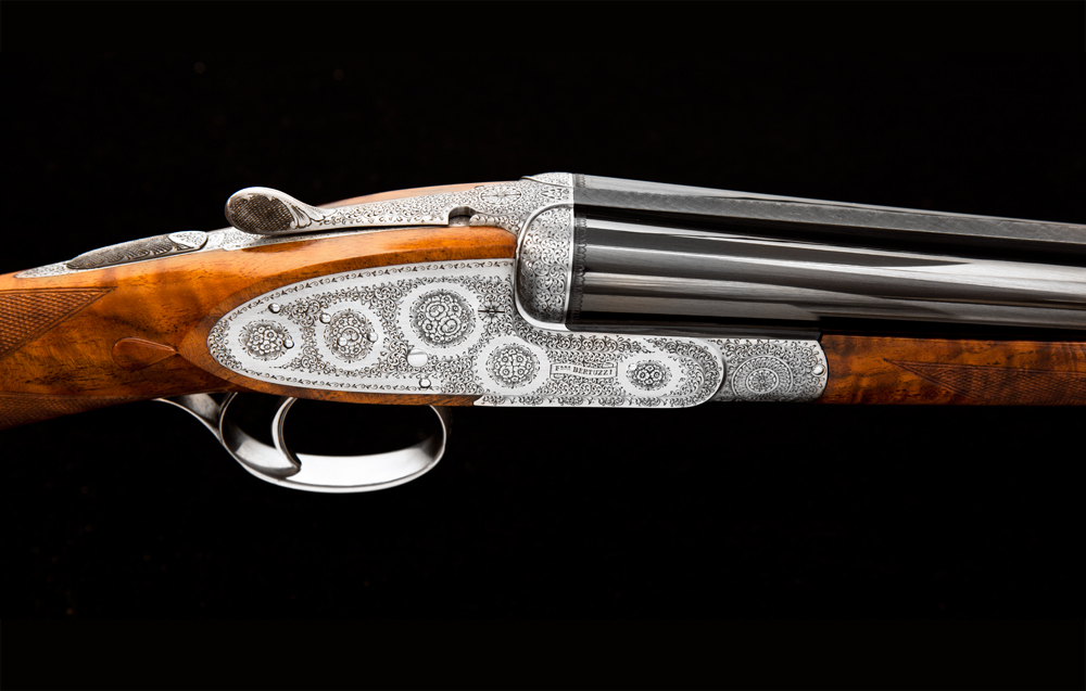 JE Cauthen Bertuzzi Venere Side Lock Shotgun